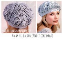 Boina crochet para mujer paso a paso