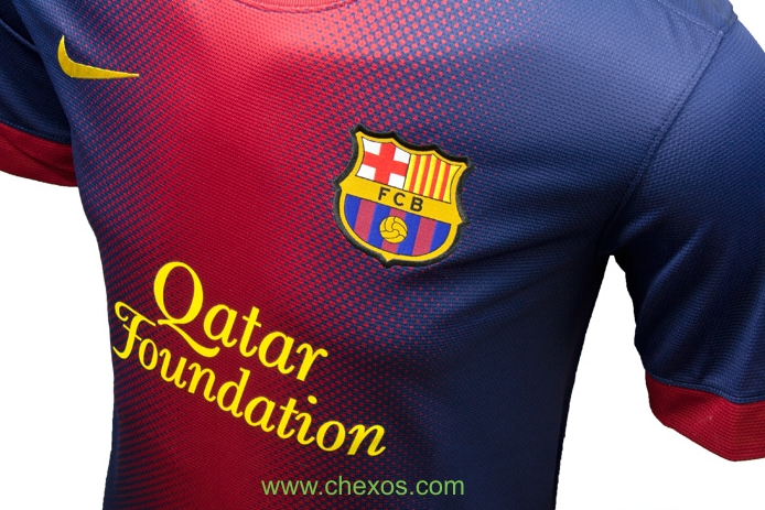 47f7ecad256 Nike and Barcelona present the 2012-13 Barcelona home and away kits. The new  kits are based on heritage but also have a modern look about them.