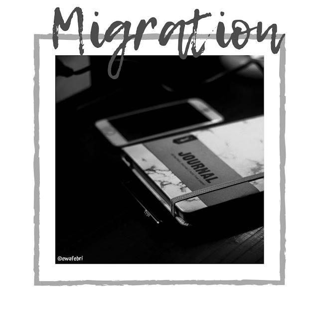 cara migrasi pada bullet journal