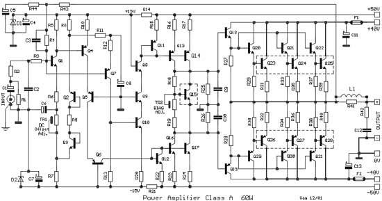 Haute puissance classe a faible distorsion amplificateur