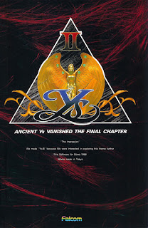 Cubierta frontal de Ys II: Ancient Ys Vanished – The Final Chapter para MSX, 1988
