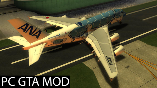 Free Download  All Nippon Airways Flying Honu Airbus A380  Mod for GTA San Andreas.