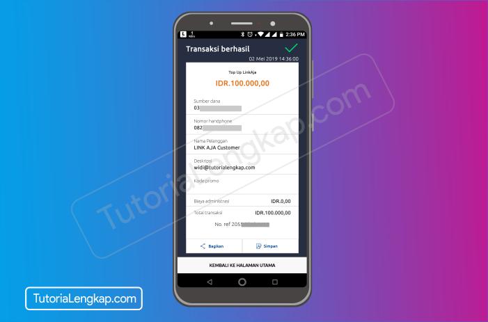 Tutorialengkap 9 cara isi saldo LinkAja atau Tcash dengan Aplikasi Brimo Bank Bri secara Online