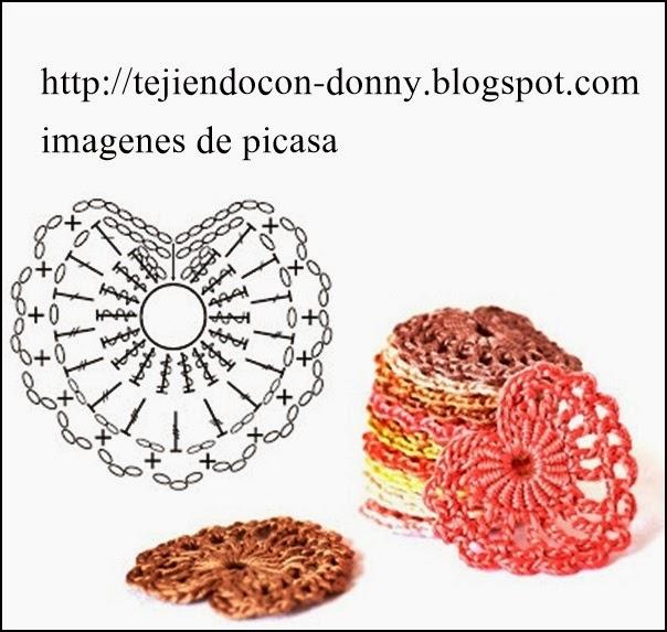 Bonito Patrón De Ganchillo Motivo De Corazón Patrón - Ideas de ...
