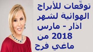 توقّعات للأبراج الهوائية لشهر اذار - مارس 2018 من ماغي فرح