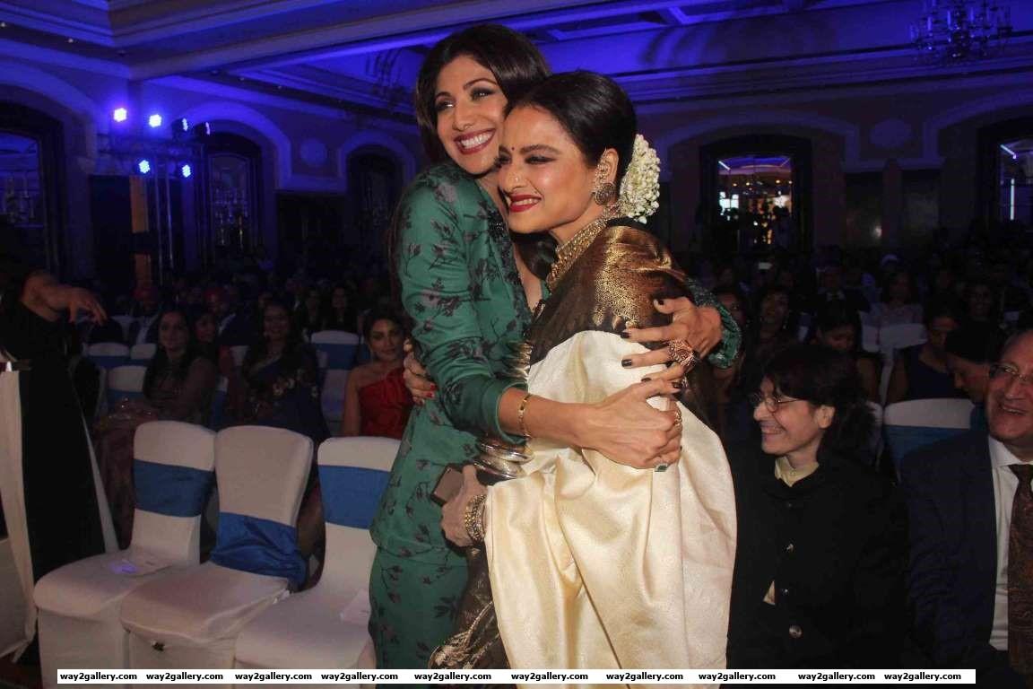 Shilpa Shetty and Rekha graced the th GeoSpa AsiaSpa India Awards