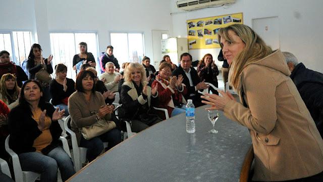 Gladys González, la candidata a senadora por la provincia de Buenos Aires visito Ezeiza