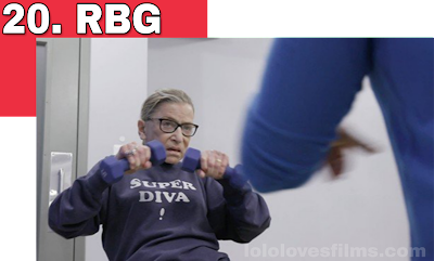 Ruth Bader Ginsburg lifting weights RBG 2018 movie