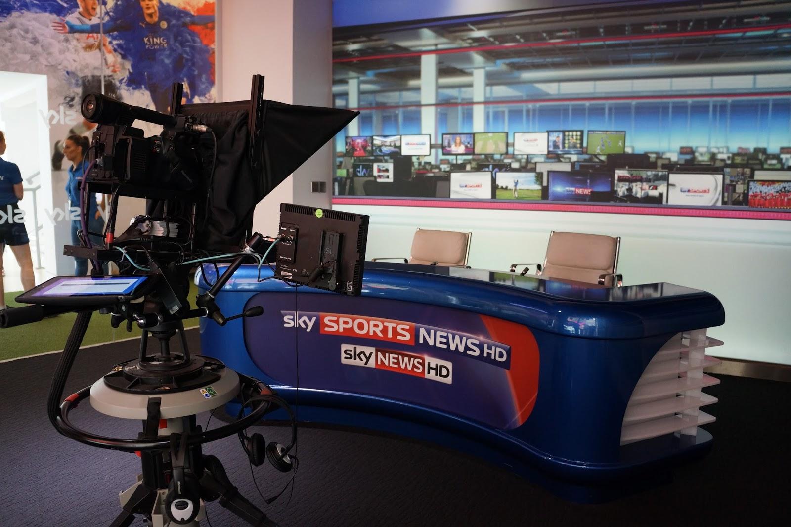 the sky studios at the o2 news desk