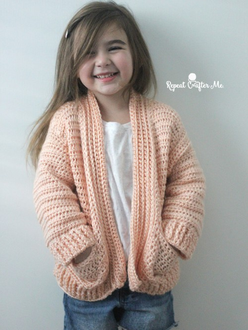 Crochet Chill Time Child's Cardigan - Free Pattern