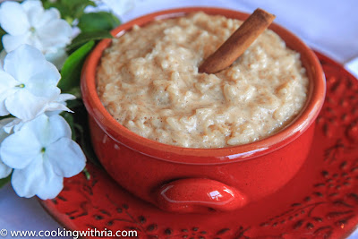 [above sweet rice was made with ground cinnamon which ...