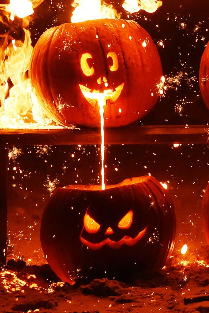 Halloween pumpkins by Jeanne Selep