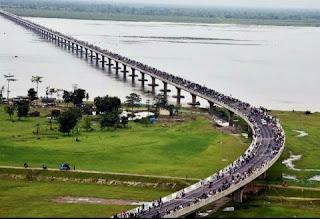 भारत में जल निकायों के ऊपर बने लंबे पुलों की सूची