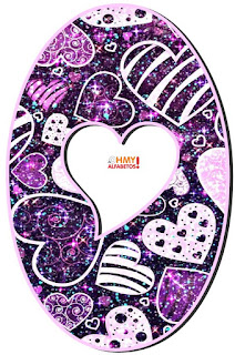 Abecedario con Corazones Fashion. Fancy Hearts Abc.