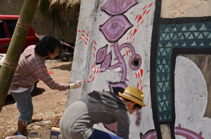 Tamawan Village Making of a Graffitti Mural Baguio City Philippines 38