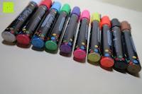 Erfahrungsbericht: Kreidemarker – 10er Pack neonfarbene Markerstifte. Für Whiteboard, Kreidetafel, Fenster, Tafel, Bistros – 6mm Kugelspitze mit 8 Gramm Tinte