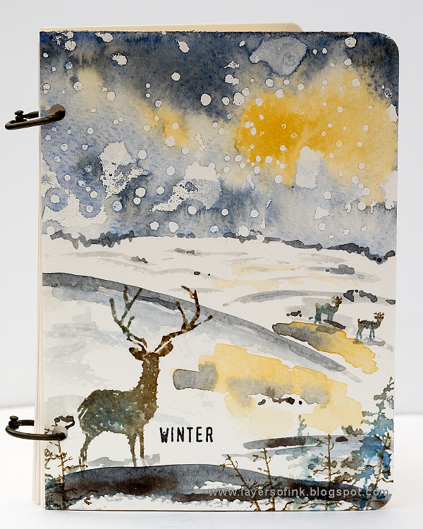 Winter Watercolor Notebook Tutorial