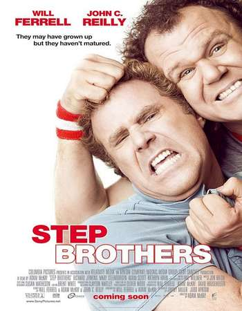 Poster Of Step Brothers 2008 Dual Audio 720p BRRip [Hindi - English] ESubs - UNRATED Free Download Watch Online downloadhub.net