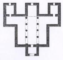 Planta de la iglesia de San Juan de Baños