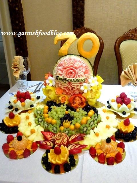 festive fruit tray