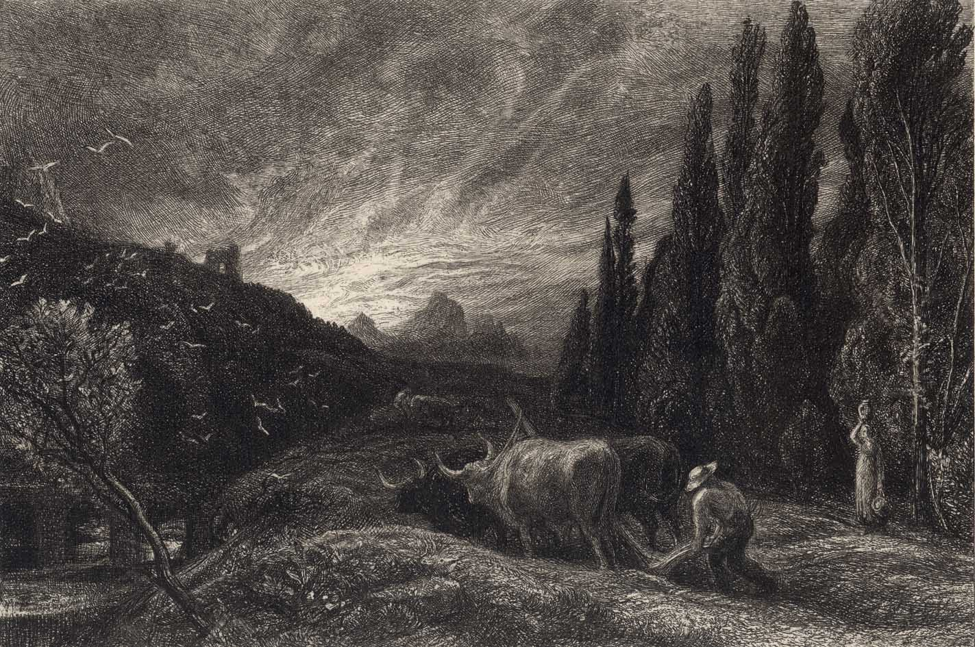 Prints And Principles Samuel Palmer S Etching The Early