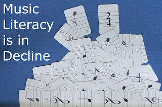 Music Literacy Is In Decline  #VisualFutureOfMusic #WorldMusicInstrumentsAndTheory