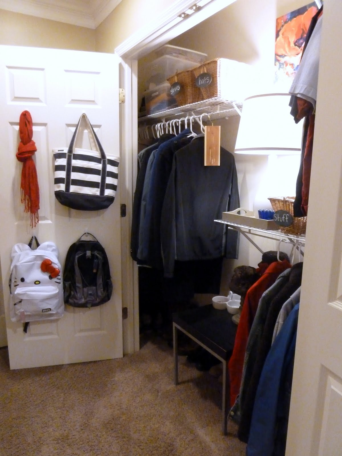 Mudroom Closet Organization Ideas Part - 42: Progress In The Mudroom U2013 Closet Doors Are Gone!