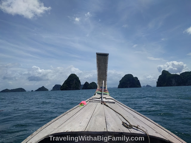 Renting a long-tail boat for island hopping in Krabi