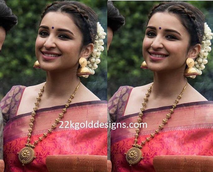 Parineeti Chopra in Antique Balls Long Chain