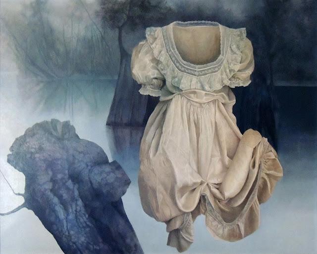 Iris Lázaro pintura arte surrealismo naturaleza lago