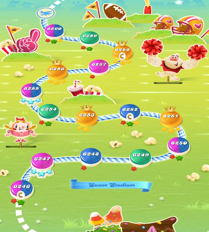 Candy Crush Saga level 6246-6260