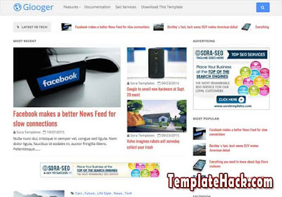 glooger blogger template