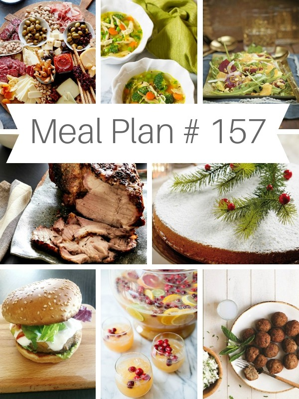 Brand new Weekly Meal Plan loaded with delicious recipes to help you plan out your week including ideas for New Year's Celebrations and way to recycle your leftovers ! | Ioanna's Notebook