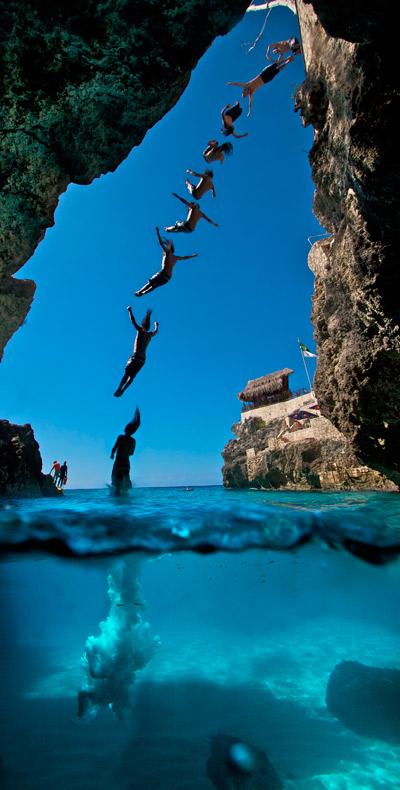 3748miles: Cliff Diving In Santorini, Greece