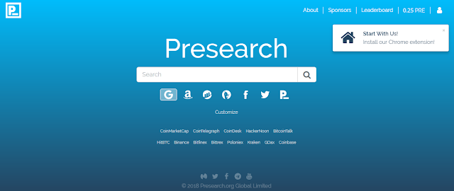 free coin presearch by web