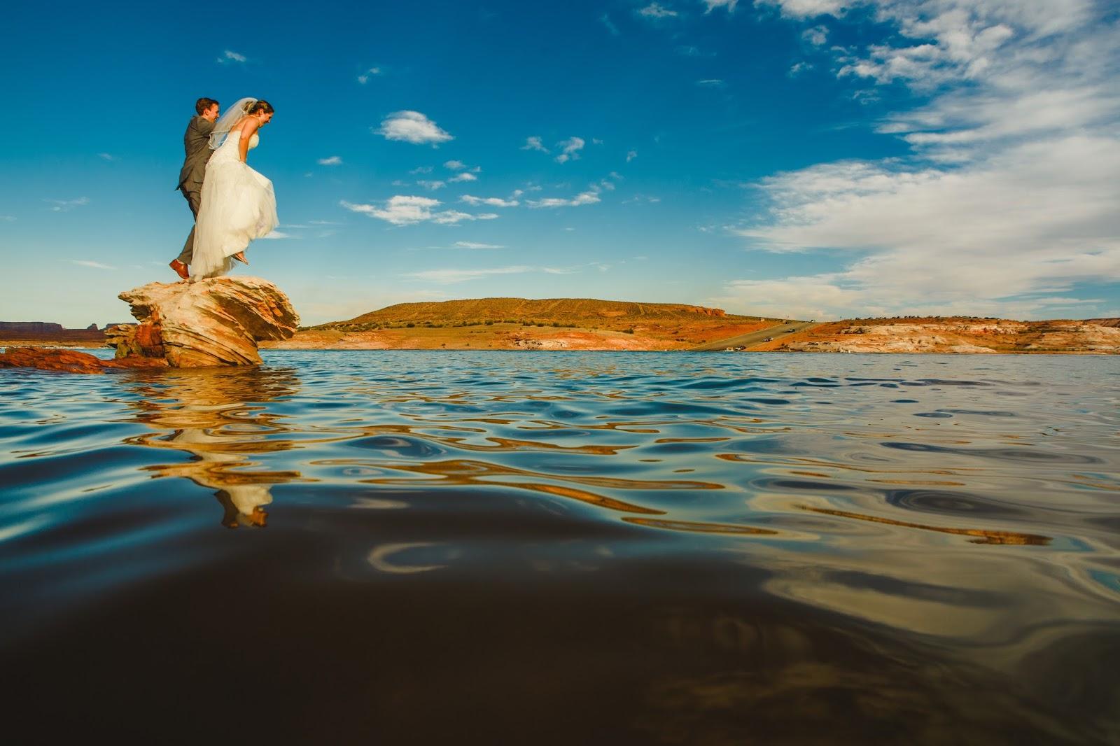 Lake Powell Wedding Splash