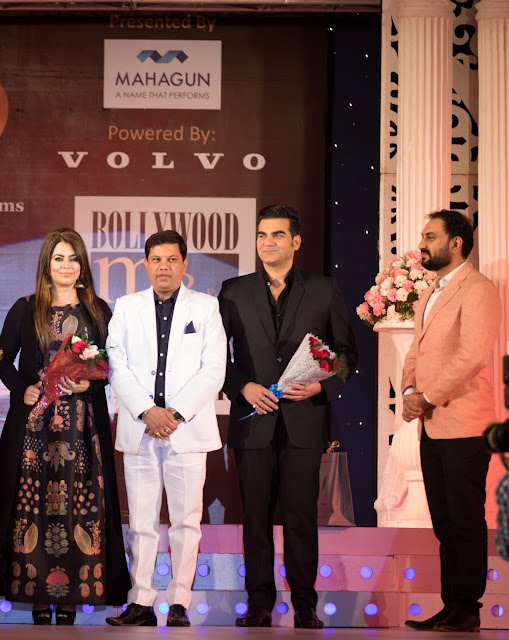 Abhishek Tiwari (Marketing Head of Voylla) with Arbaaz Khan, Yash Ahlawat and Mahima Chaudhary