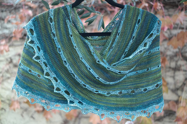 abalone shawl, knitting,