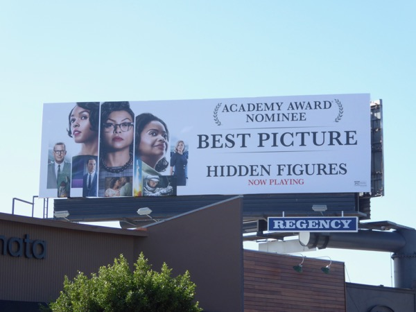 Hidden Figures Academy Award Best Picture billboard