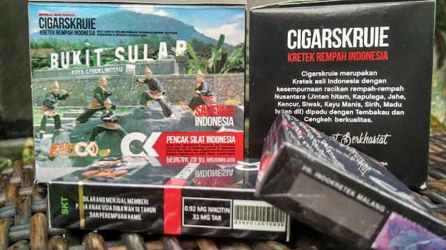 Rokok Kretek Rempah Cigarskruie Nikotin 0,9 mg