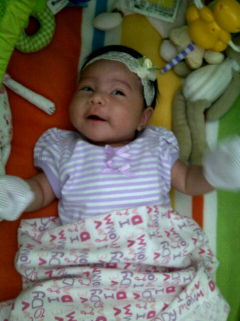 Gambar terkini bayi perempuan Rabecca Nur AlIslam yang