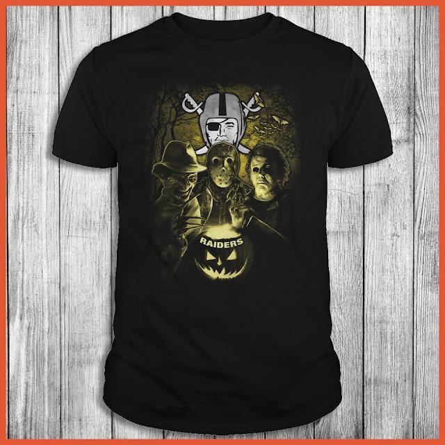 Oakland Raiders Halloween Horror Movie Shirt
