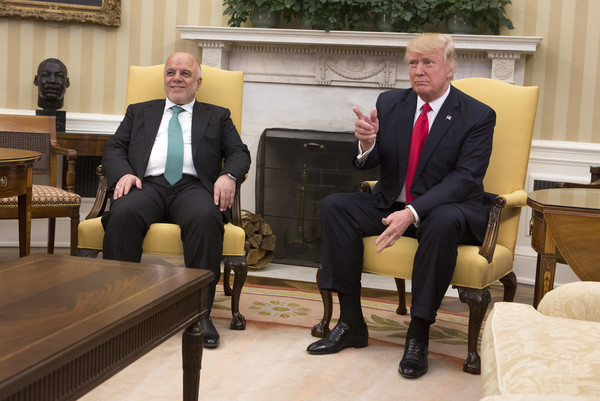 Haider Al-Abadi and Donald J Trump