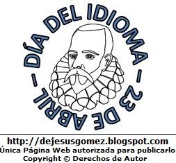 Dibujo del Día del Idioma con Miguel de Cervantes Saavedra. Dibujo al Día del idioma hecho por Jesus Gómez