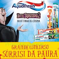 Logo Aquafresh ti fa vincere fantastici premi con '' Sorrisi da paura''