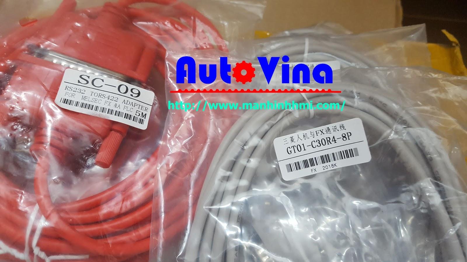 SC-09 RS232-RS422, GT01-C30R3-8P Cable kết nối màn hình và PLC Mitsubishi