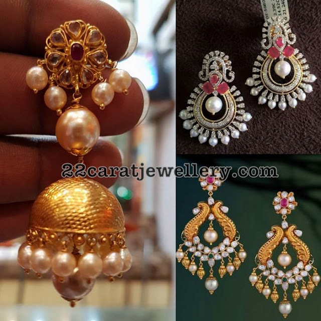 Antique Work Chandbalis Jhumkas by Vasundhara