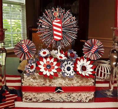 Busy With The Cricky Patriotic Centerpiece For July 4th