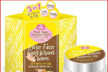 Pure Face Sunscreen By Jellys Cream BPOM
