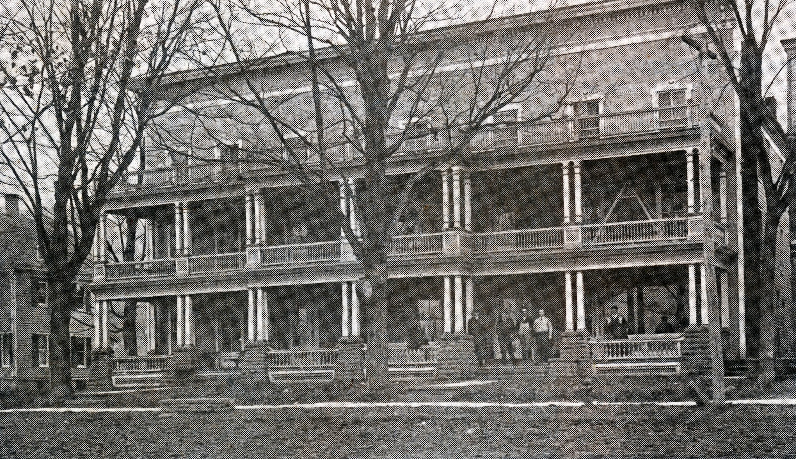 Old Park Hotel That Once Faced The Village Green In Bainbridge It Was Torn Down About 1935 When Demerees Located There
